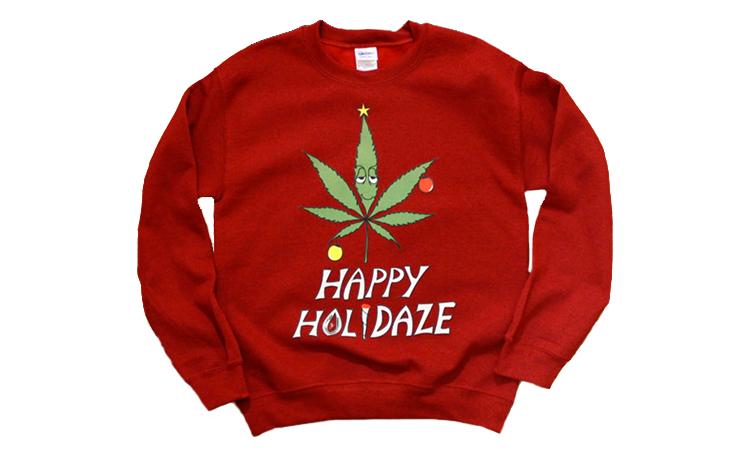 """Happy Holidaze"" ugly Christmas sweater"