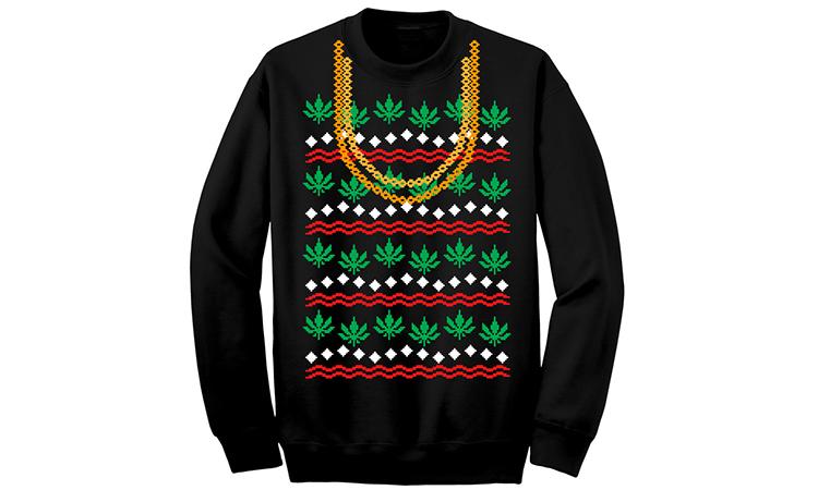 "2 Chainz ""Weed Ugly Christmas"" sweater"