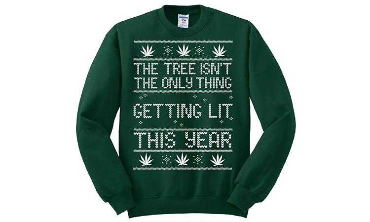 """""""Getting Lit"""" ugly Christmas sweater"""
