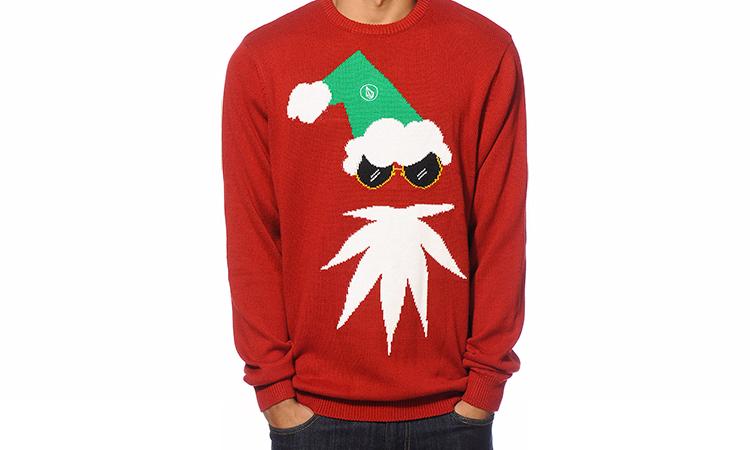 Volcom ugly cannabis Christmas sweater