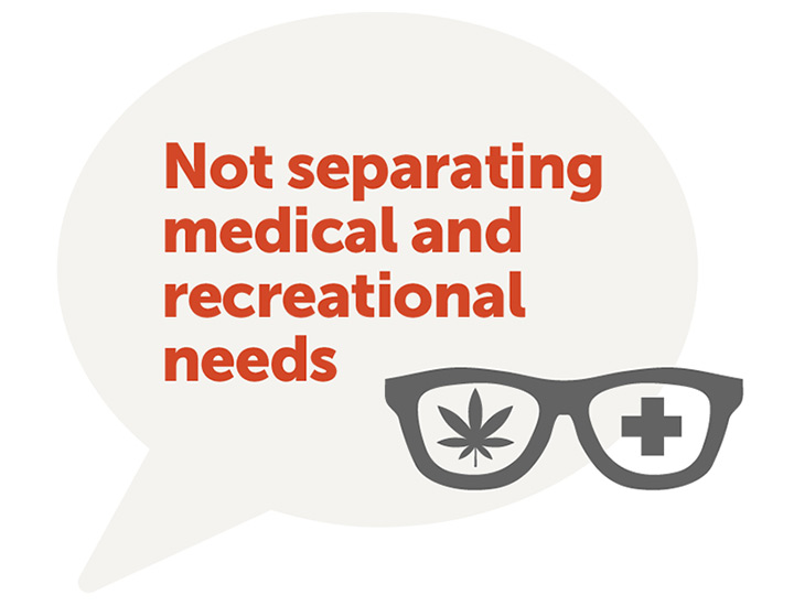 Not separating medical and recreational needs
