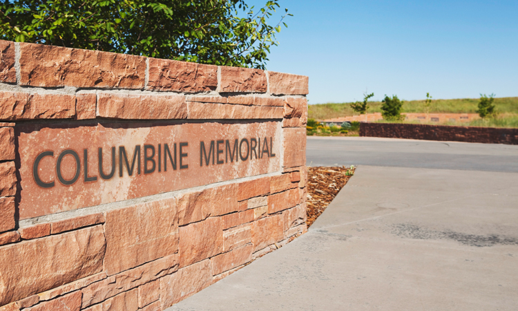 Columbine High School Memorial sign