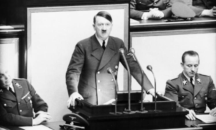 Adolf Hitler giving speech