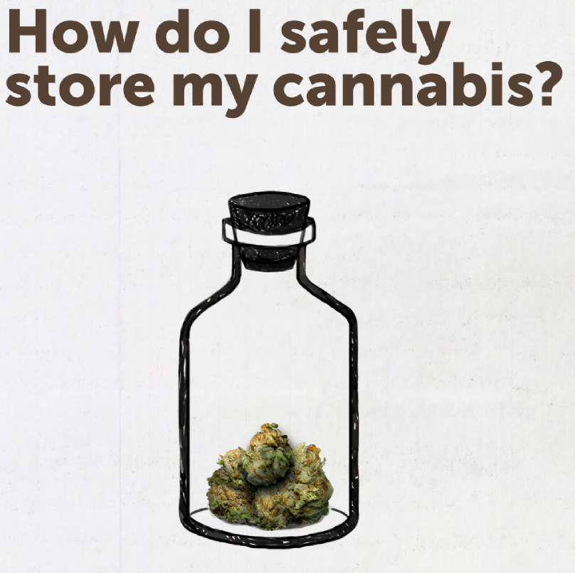 How do I safely store my cannabis?