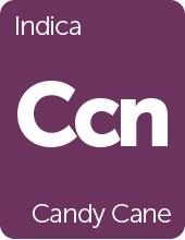 Leafly Candy Cane cannabis strain tile