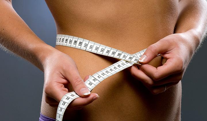 Measuring waist size