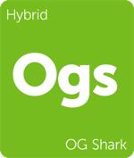 Leafly OG Shark hybrid cannabis strain tile