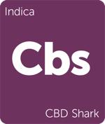 Leafly CBD Shark indica cannabis strain tile