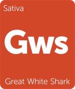 Leafly Great White Shark sativa cannabis strain tile