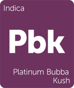 Leafly indica Platinum Bubba Kush cannabis strain tile
