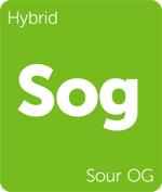 Leafly hybrid Sour OG cannabis strain tile