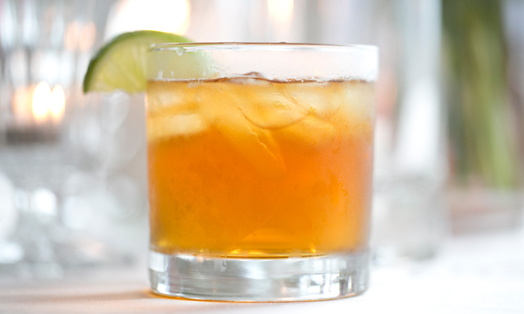 """Smoke & Spice"" craft cocktail"