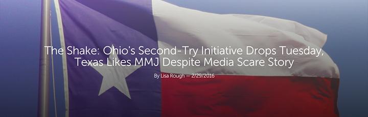"Leafly ""The Shake: Texas Likes MMJ Despite Media Scare Story"" Article Header"
