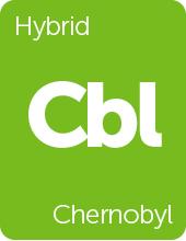 Leafly Chernobyl cannabis strain tile