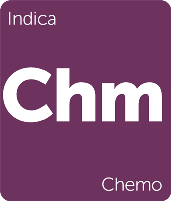 Leafly indica Chemo cannabis strain tile