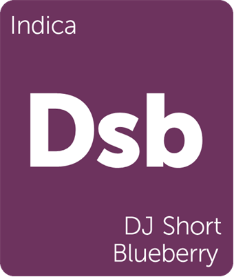 Leafly indica DJ Short Blueberry cannabis strain tile