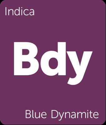 Leafly indica Blue Dynamite cannabis strain tile