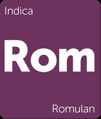 Leafly Romulan indica cannabis strain tile