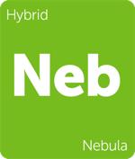 Leafly hybrid Nebula cannabis strain tile
