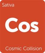 Leafly sativa Cosmic Collision cannabis strain tile