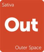 Leafly sativa Outer Space cannabis strain tile
