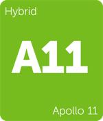 Leafly hybrid Apollo 11 cannabis strain tile