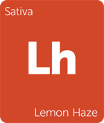 Leafly sativa Lemon Haze cannabis strain tile