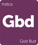 Leafly indica God Bud cannabis strain tile