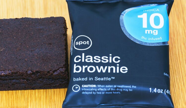 Cannabis-infused brownie edible