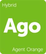 Leafly hybrid Agent Orange cannabis strain tile