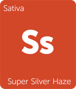 Leafly hybrid Super Silver Haze cannabis strain tile