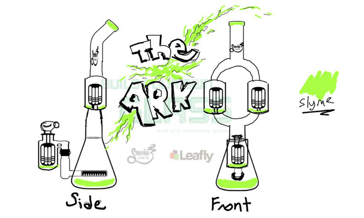The Ark Water Pipe Design from Leafly and Smoke Cartel's Design Your Own Glass Contest