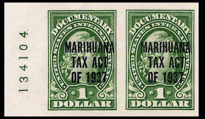 Marihuana Tax Act revenue stamps