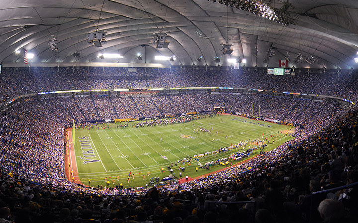 The Metrodome, the former home of the Minnesota Vikings and where Chris Kluwe spent much of his career. Photo by Bjorn Hanson