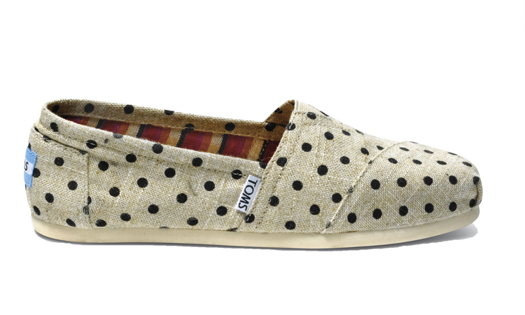 TOMS polka-dotted hemp shoes