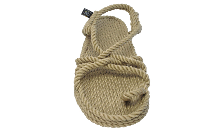 Hemp rope sandals by Nomadic State of Mind