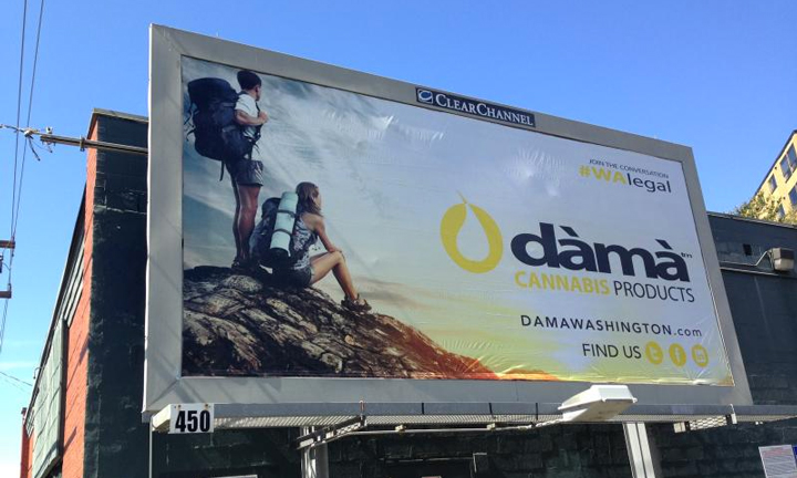 Dama cannabis billboard