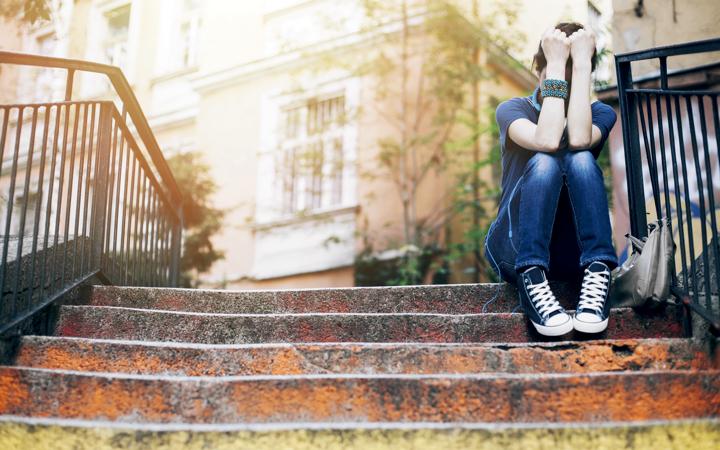 Depressed, upset woman