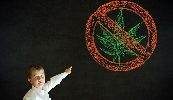 don't market cannabis to minors