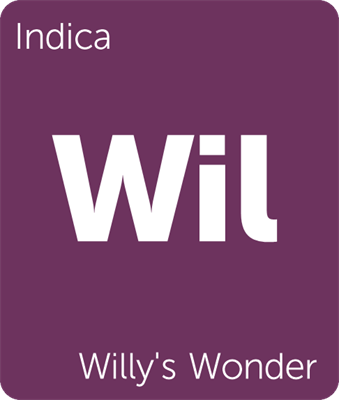 Leafly Willy's Wonder indica cannabis strain tile