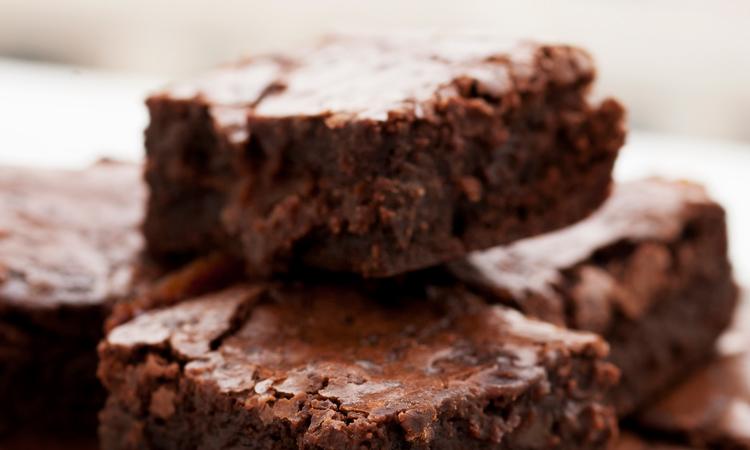 Homemade cannabis-infused chocolate brownies