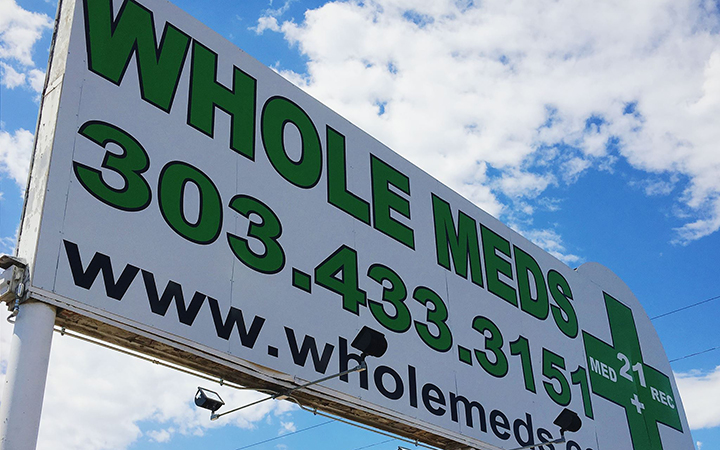 Whole Meds medical marijuana and recreational cannabis dispensary in Denver, Colorado