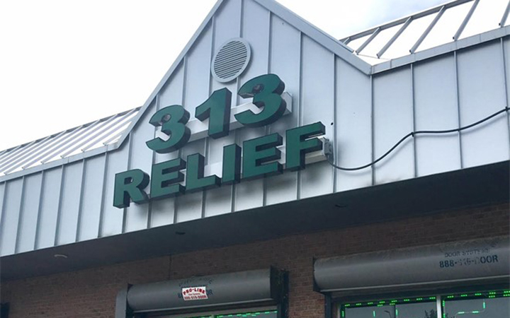 313 Relief medical cannabis dispensary in Detroit, Michigan