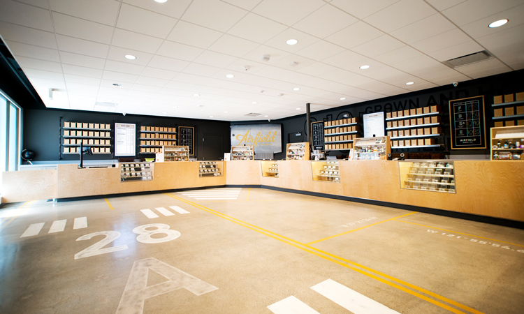 Airfield Supply Co. medical marijuana dispensary in San Jose, California