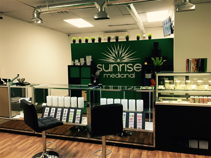 Sunrise Medicinal medical marijuana dispensary in Toronto, Ontario, Canada