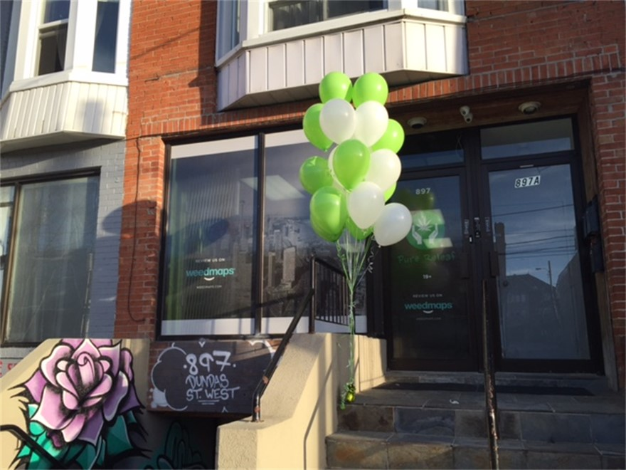 Pure Releaf medical marijuana dispensary in Toronto, Ontario, Canada