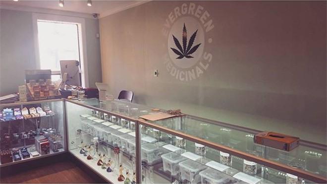 Evergreen Medicinals medical marijuana dispensary on Dundas, Toronto, Ontario, Canada