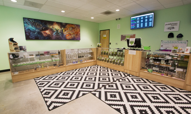 Puddletown Organics recreational cannabis dispensary in Portland, Oregon