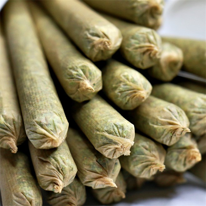 Pre-rolled cannabis joints from The Green Front in Portland, OR