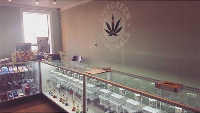 Evergreen Medicinals medical marijuana dispensary in Toronto, Ontario, Canada
